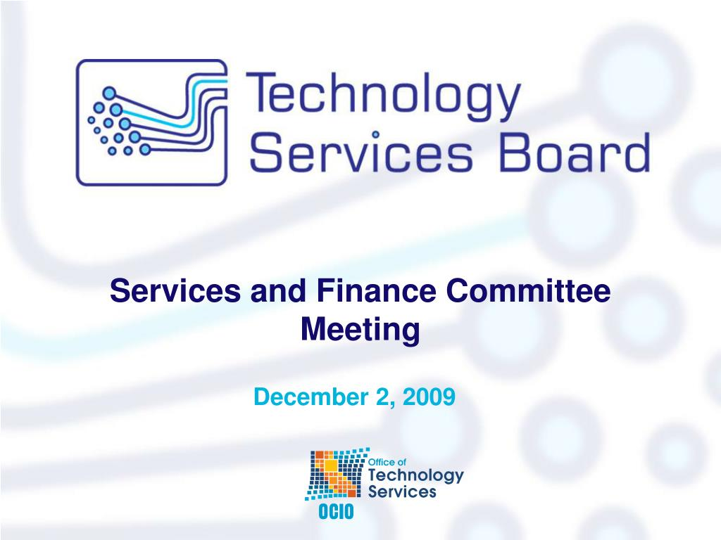 services and finance committee meeting l.
