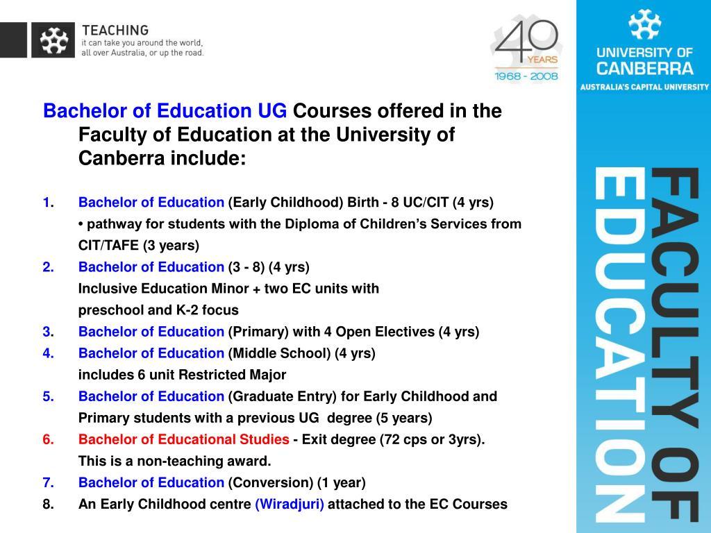 Bachelor of Education UG