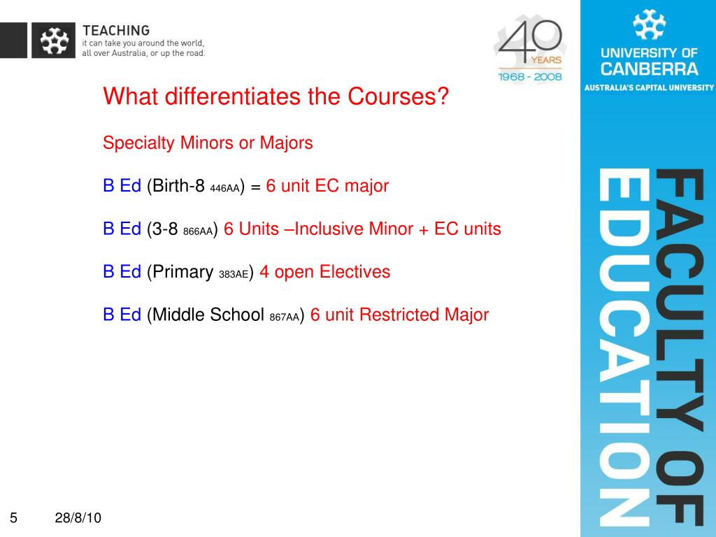 What differentiates the Courses?