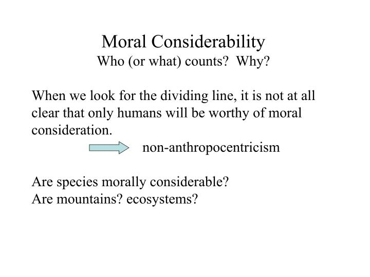 Moral Considerability