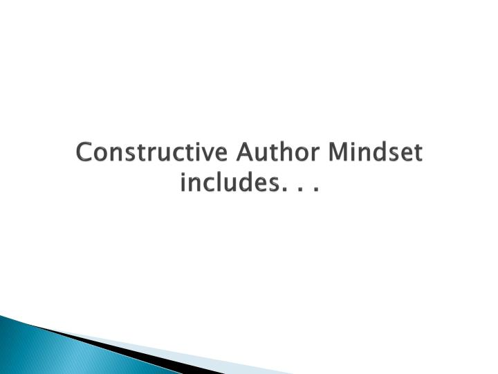 Constructive Author Mindset