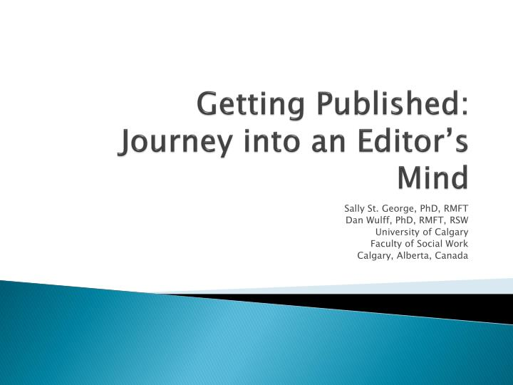 Getting Published: