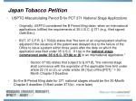 japan tobacco petition