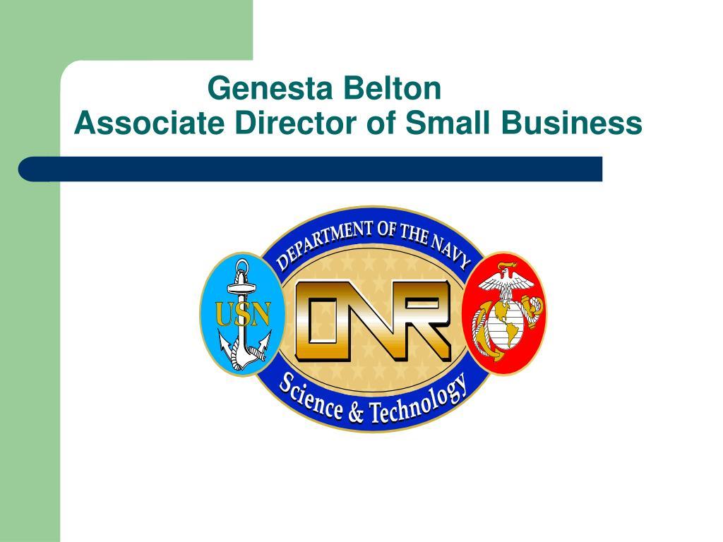 genesta belton associate director of small business l.