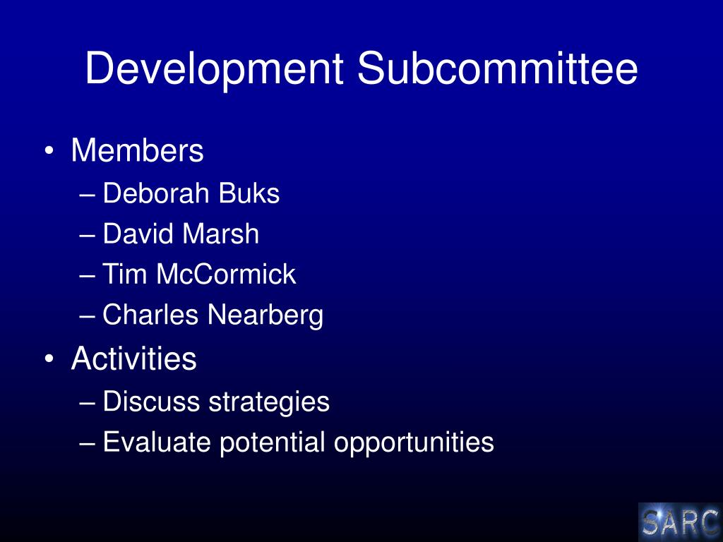 Development Subcommittee