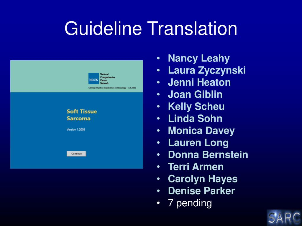 Guideline Translation