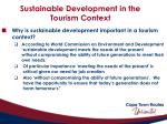 sustainable development in the tourism context