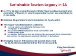 sustainable tourism legacy in sa