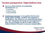 tourism perspective triple bottom line