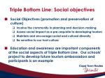 triple bottom line social objectives