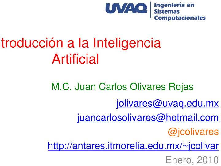 Introducci n a la inteligencia artificial