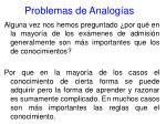 problemas de analog as