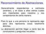 reconocimiento de abstracciones67