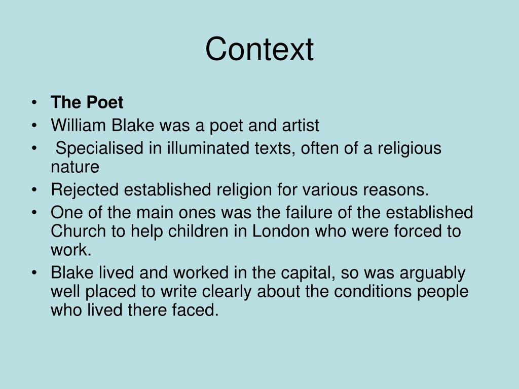 Ppt William Blake Vs Bruce Dawe London Planning A Time