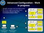 advanced configuration work in progress