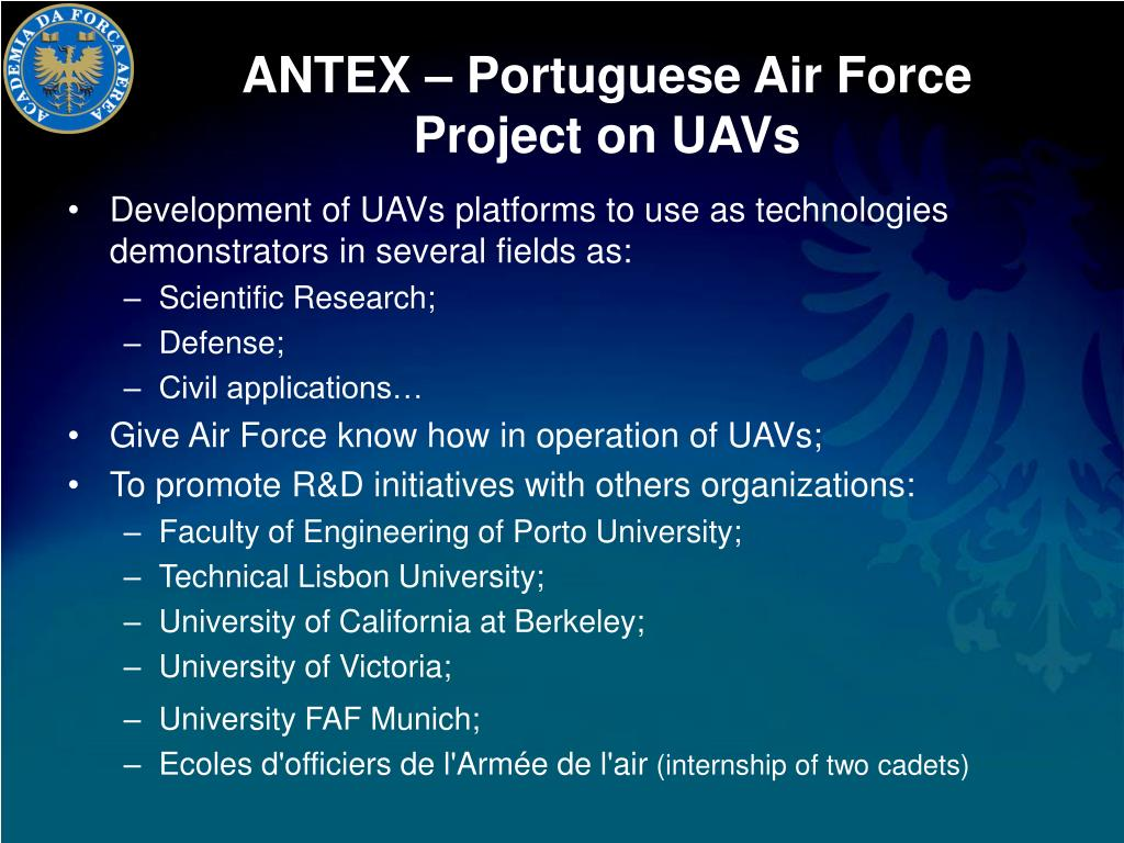 ANTEX – Portuguese Air Force Project on UAVs