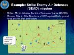 example strike enemy air defenses sead mission