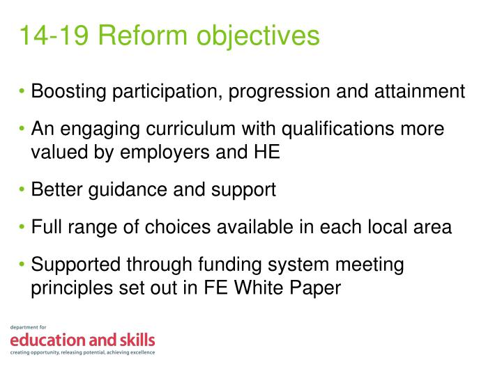Boosting participation, progression and attainment