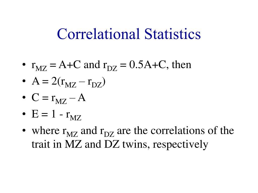Correlational Statistics