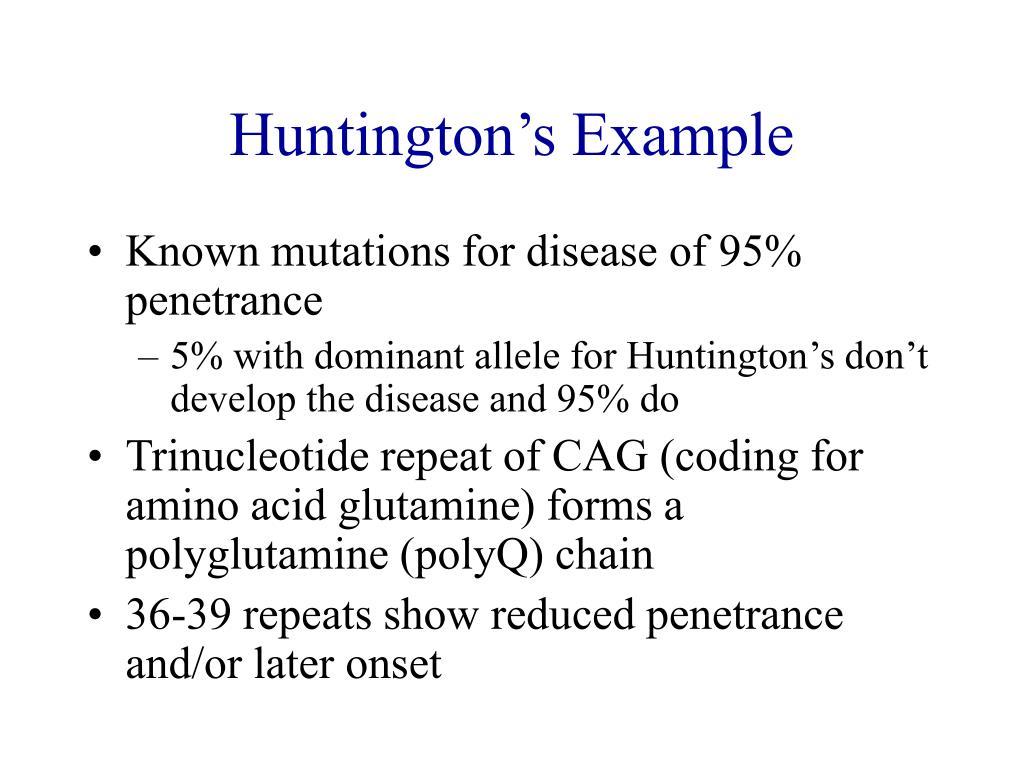 Huntington's Example