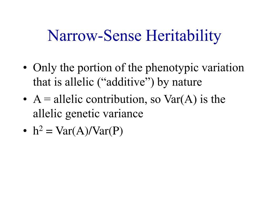 Narrow-Sense Heritability