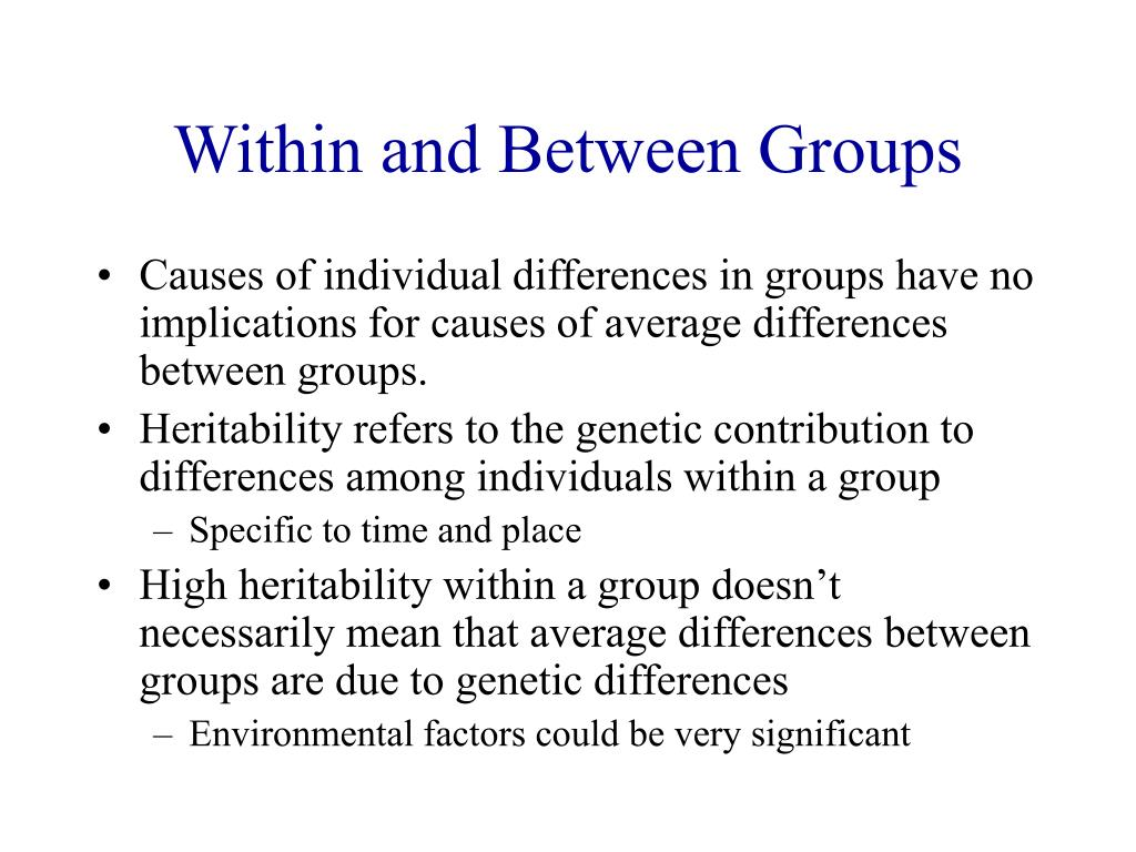 Within and Between Groups