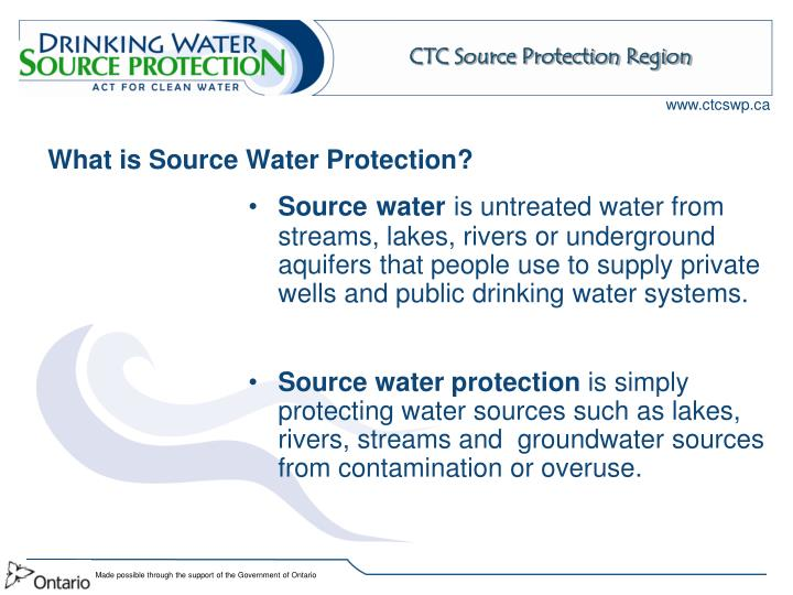 What is source water protection