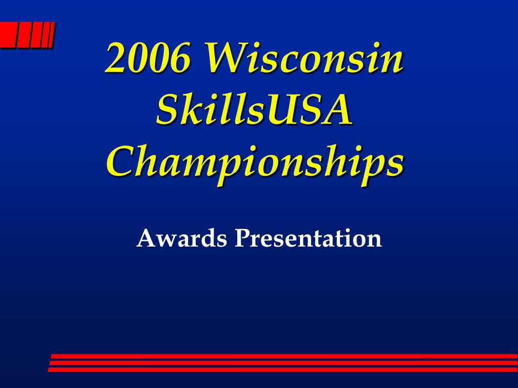 2006 wisconsin skillsusa championships l.