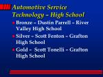 automotive service technology high school