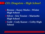 co 2 dragsters high school