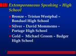 extemporaneous speaking high school