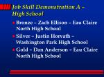 job skill demonstration a high school