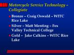 motorcycle service technology collegiate