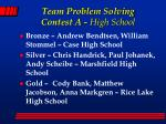 team problem solving contest a high school