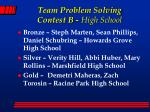 team problem solving contest b high school
