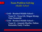 team problem solving middle school