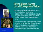 silver maple forest local ecosystem value4