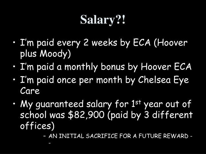 Salary?!