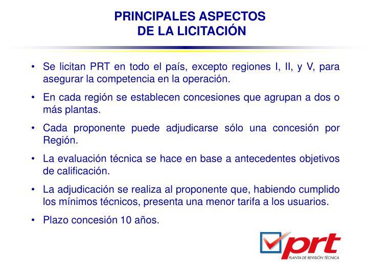PRINCIPALES ASPECTOS
