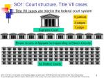 so1 court structure title vii cases title vii cases are tried in the federal court system