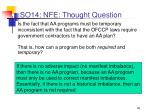 so14 nfe thought question