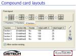 compound card layouts