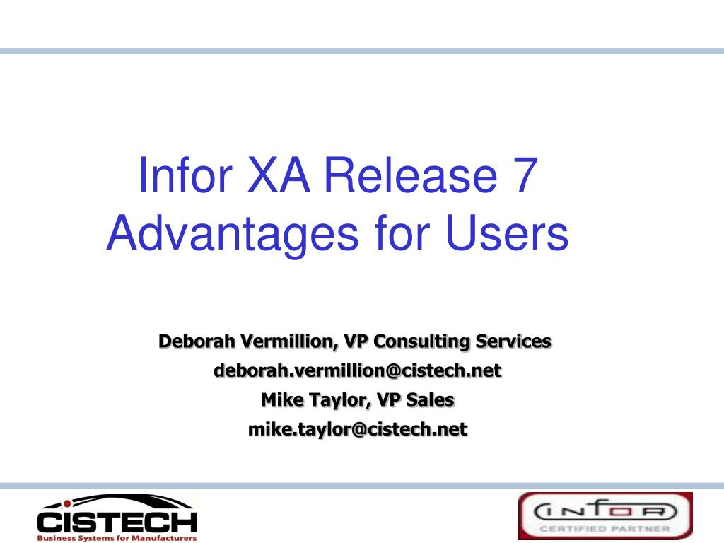infor xa release 7 advantages for users l.