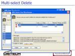 multi select delete