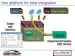 one platform for total integration