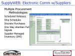 supplyweb electronic comm w suppliers