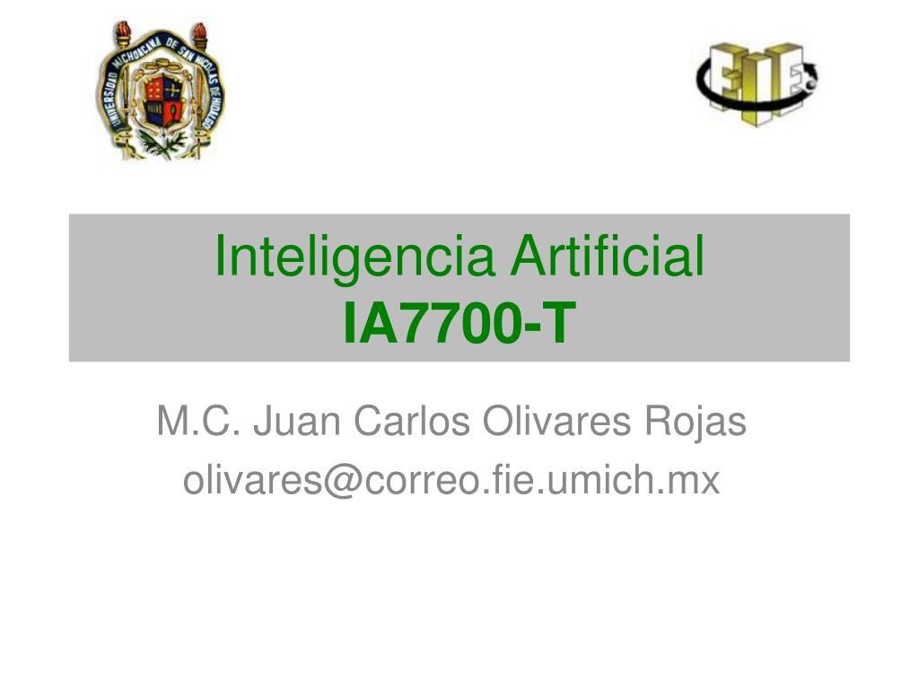 inteligencia artificial ia7700 t l.