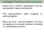intelligent systems and learning36