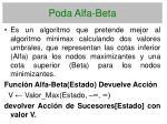 poda alfa beta112