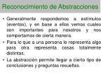 reconocimiento de abstracciones73